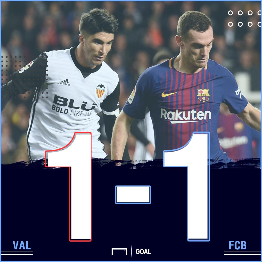 Valencia Barcelona score