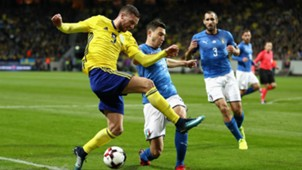 Markus Berg Matteo Darmian Sweden Italy Russia 2018 World Cup Qualifier Play-Off 11102017