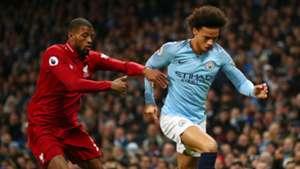 Leroy Sane Georginio Wijnaldum Manchester City Liverpool Premier League 03012019