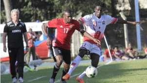 Dennis Shikhayi of Harambee Stars v Libya