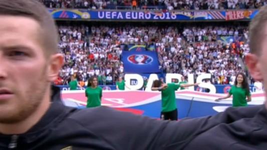 Uefa mascot dab dances