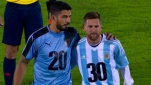 Luis Suarez Lionel Messi Uruguay Argentina Eliminatorias Sudamericanas 31082017