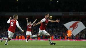 Olivier Giroud Arsenal Leicester City Premier League
