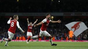 Olivier Giroud Arsenal Leicester City Premier League