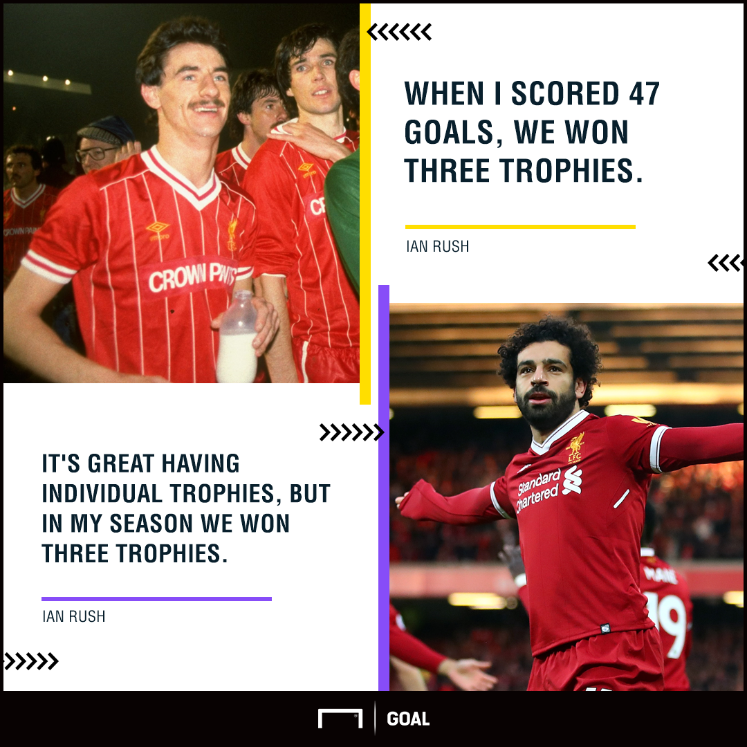 Ian Rush Mohamed Salah trophies over records