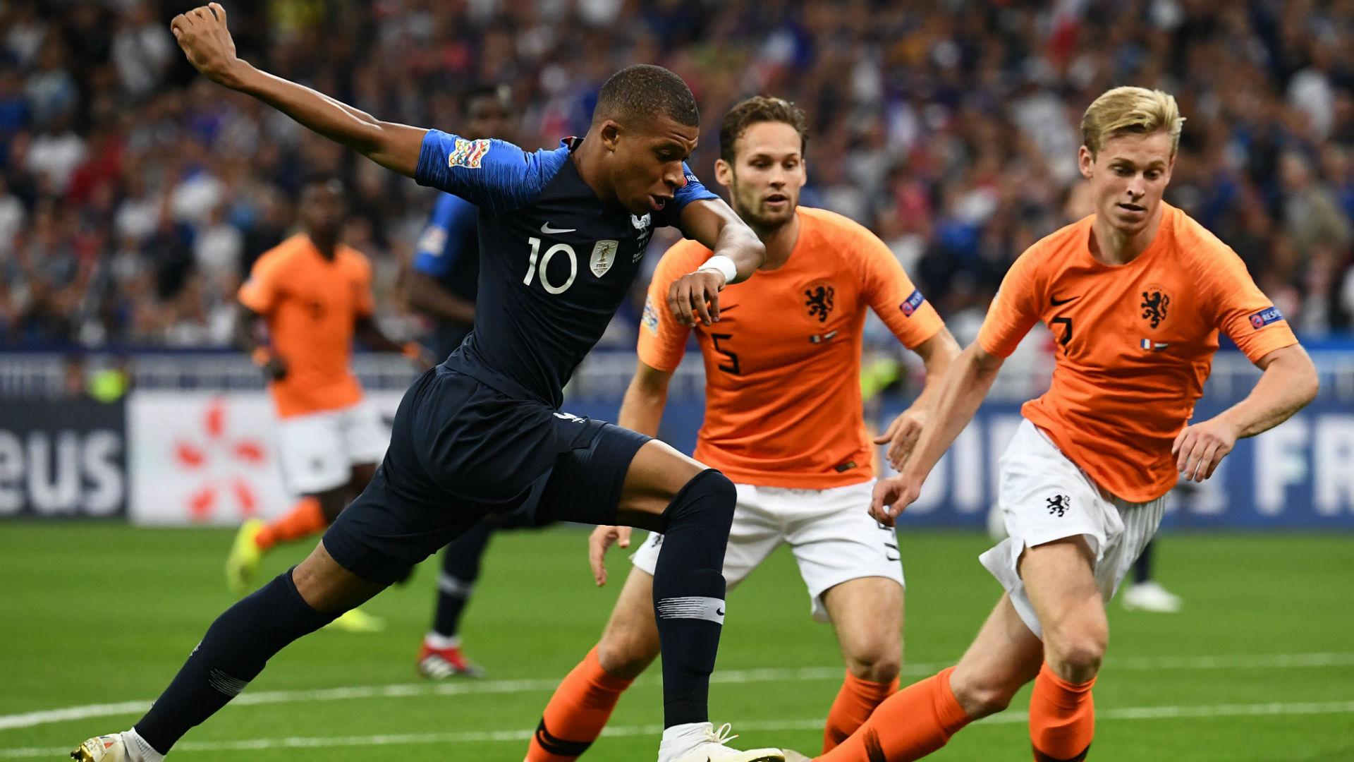Kylian Mbappe Frenckie De Jong France Netherlands Nations League 09092018