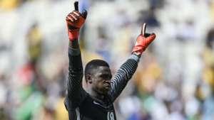 Nigerian goalkeeper Emmanuel Daniel