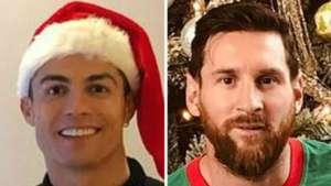 Cristiano Ronaldo Lionel Messi Xmas GFX