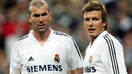 David Beckham Zinedine Zidane Real Madrid 23042005