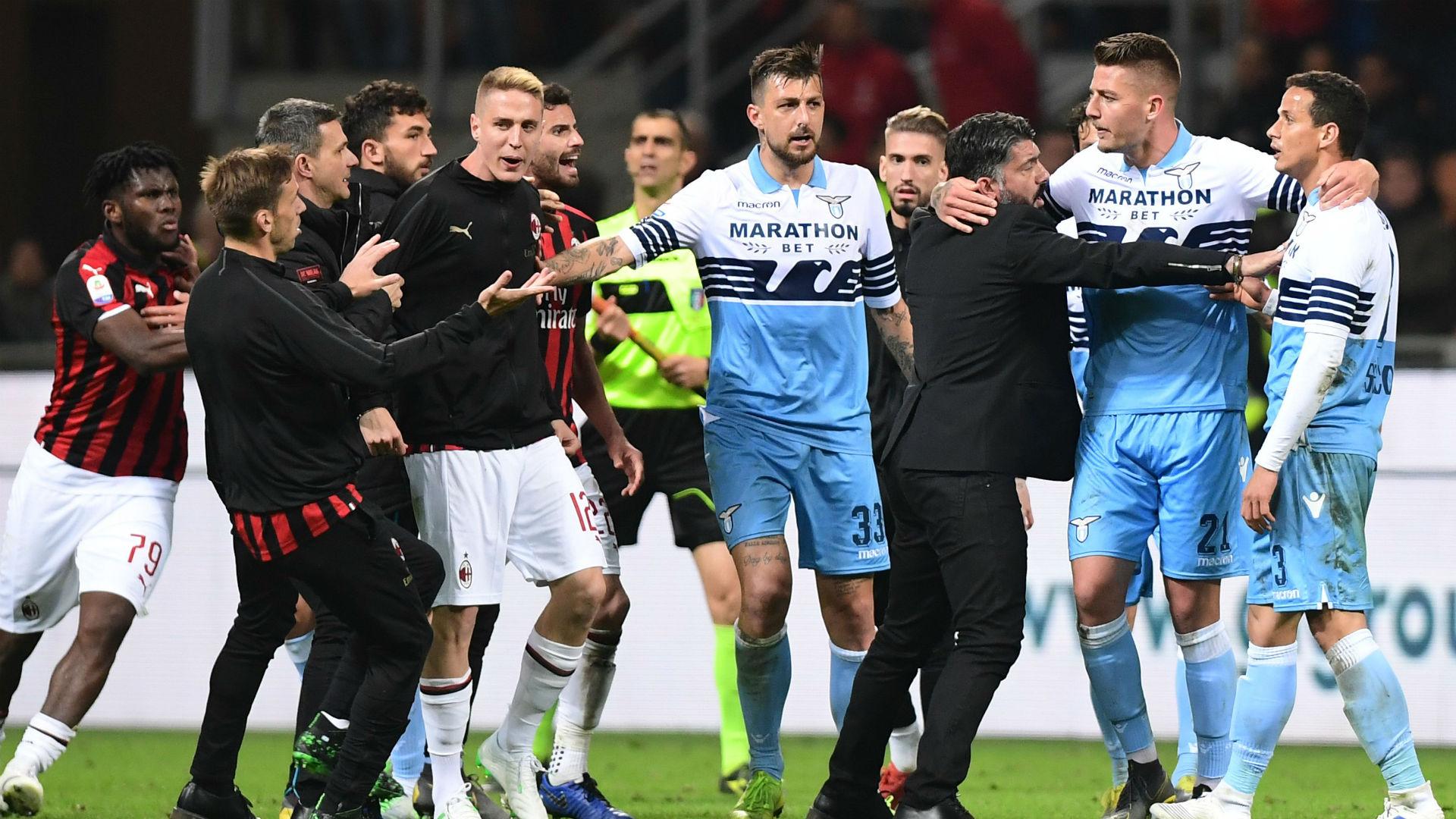 Milan Lazio fight