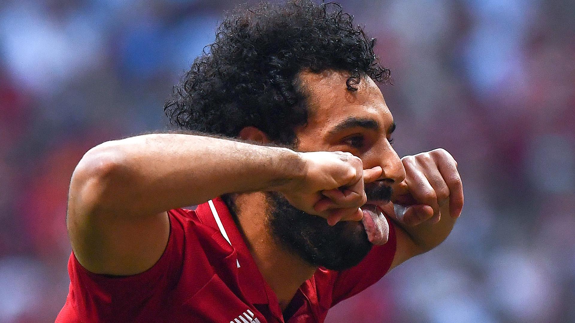 احتفال صلاح في نهائي دوري أبطال أوروبا 2019