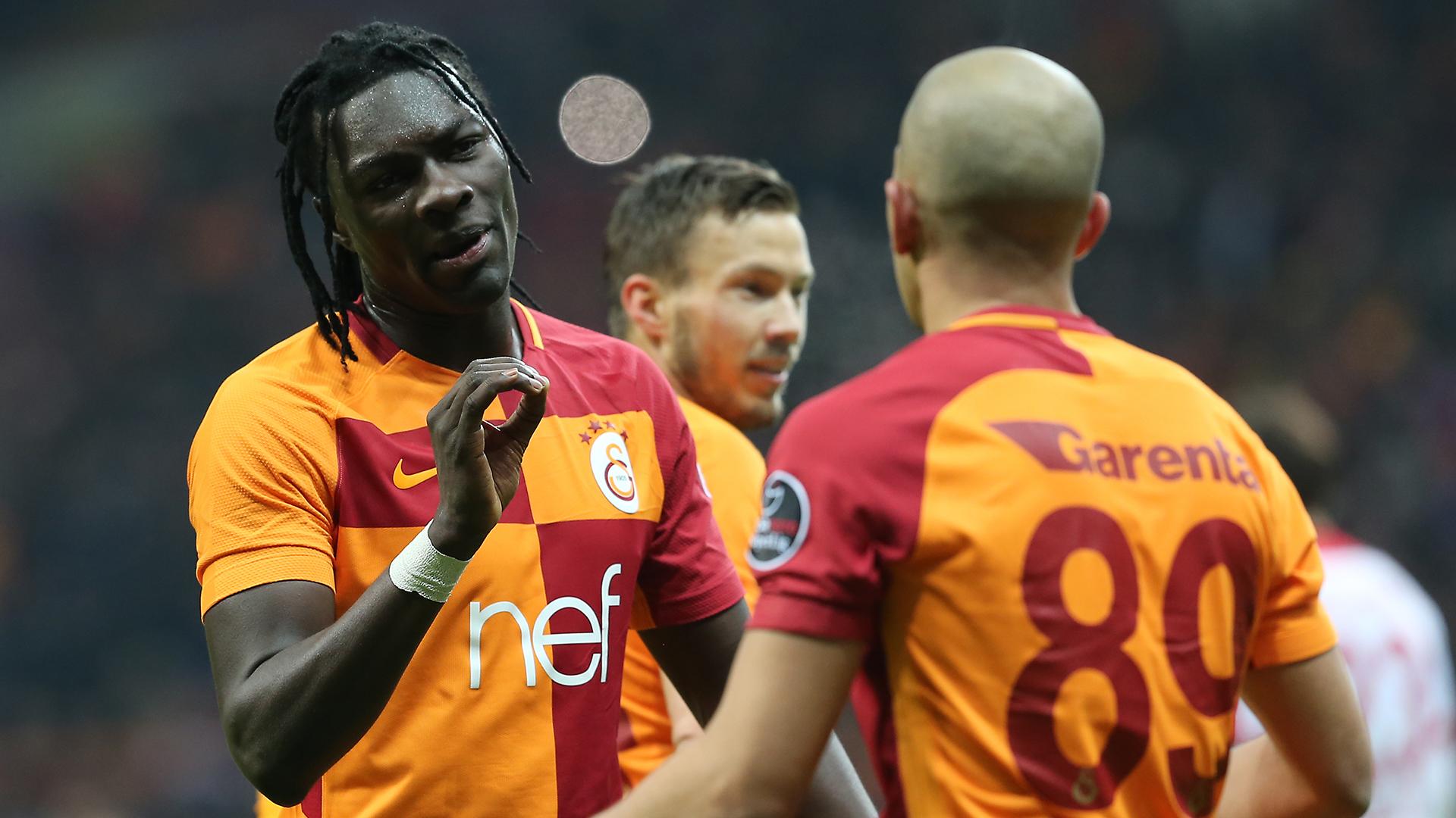 Bafetimbi Gomis Sofiane Feghouli Galatasaray Antalyaspor 02122018