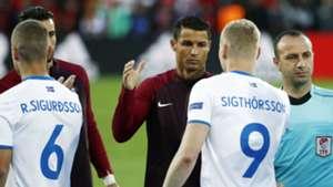 Cristiano Ronaldo Kolbeinn Sigthorsson Portugal Iceland Euro 2016