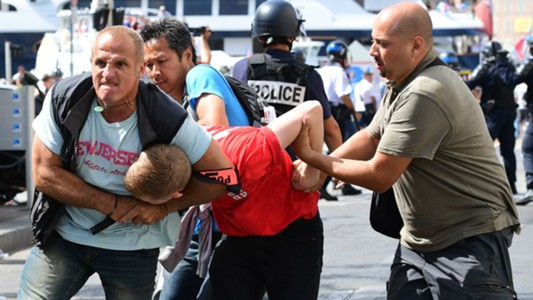 Marseille riot England Russia 11102016