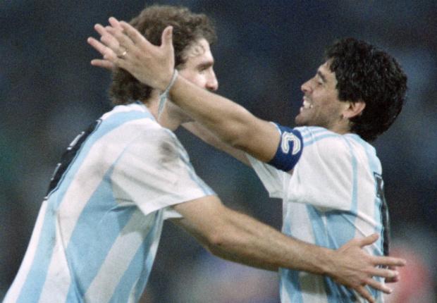 oscar ruggeri diego maradona italia 1990