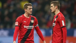 Lars Bender Sven Bender Bayer 04 Leverkusen 02122017