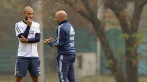 Javier Mascherano Jorge Sampaoli Argentina 02092017