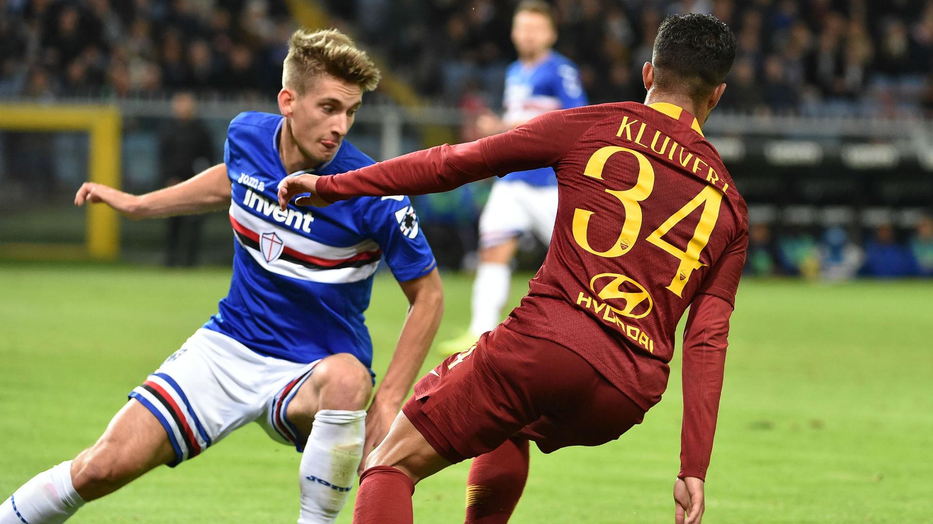 Andersen Kluivert Sampdoria Roma Serie A