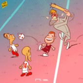 Alberto Moreno Liverpool Sevilla Cartoon