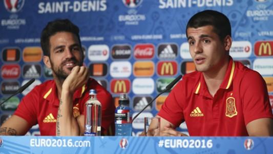 Cesc Fabregas Alvaro Morata Spain
