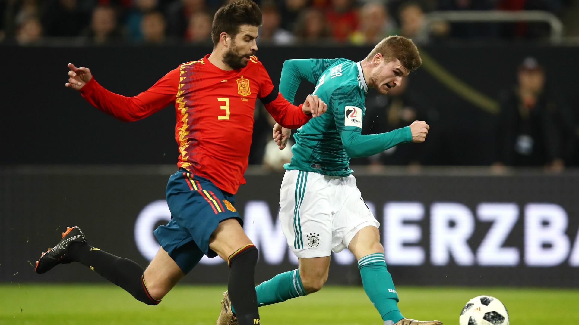 Piqué Werner Alemania España Amistoso Internacional