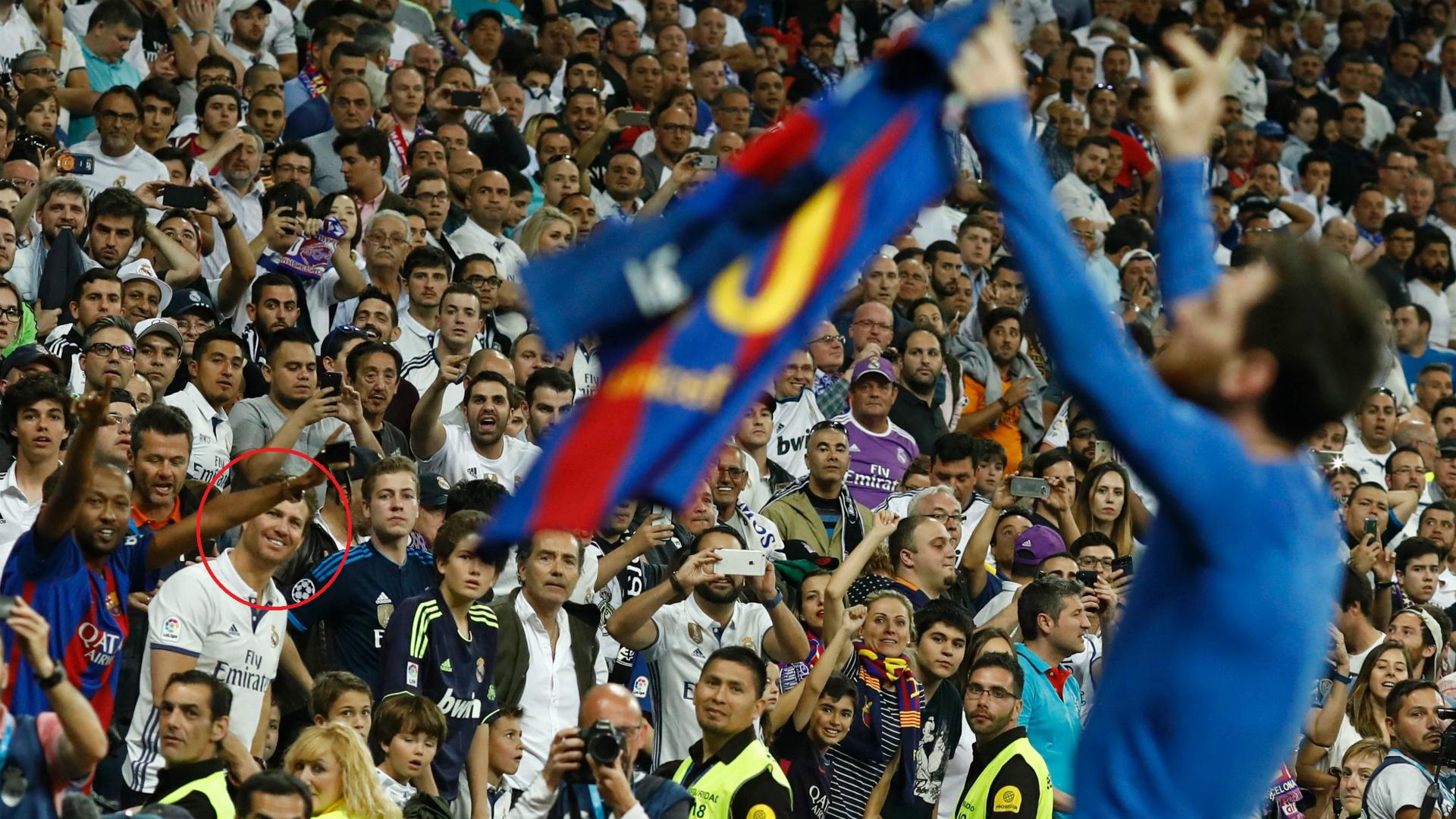 BODY ONLY Madrid fan risa gol Messi
