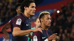 Cavani e Neymar PSG x Lyon 17 09 17