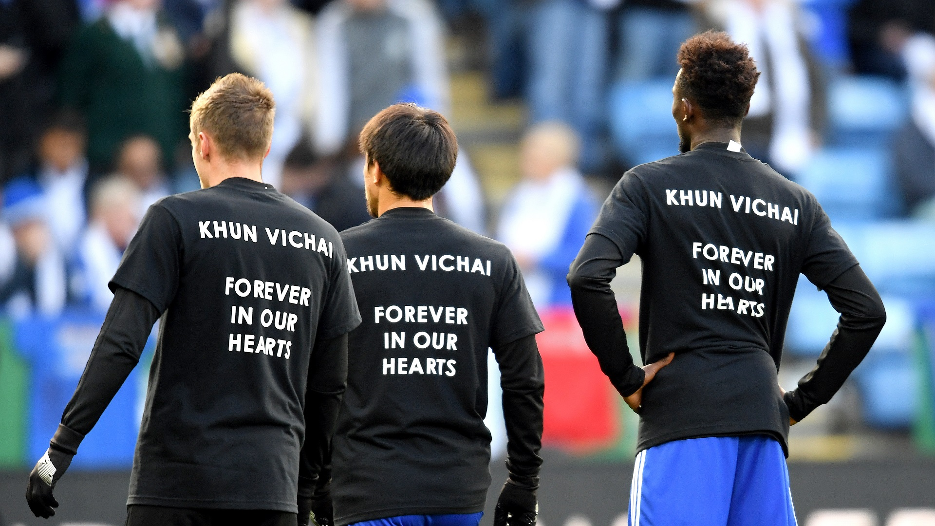 Leicester City Vichai tribute 10112018