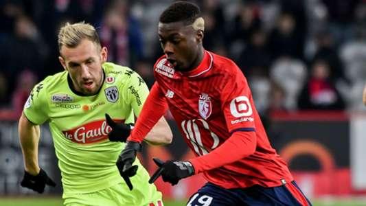 Flavien Tait Nicolas Pepe Lille Angers Ligue 1 24022018