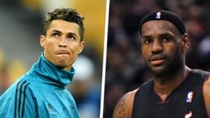 LeBron James Ronaldo Split
