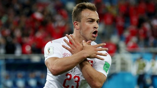 Xherdan Shaqiri Switzerland Serbia World Cup