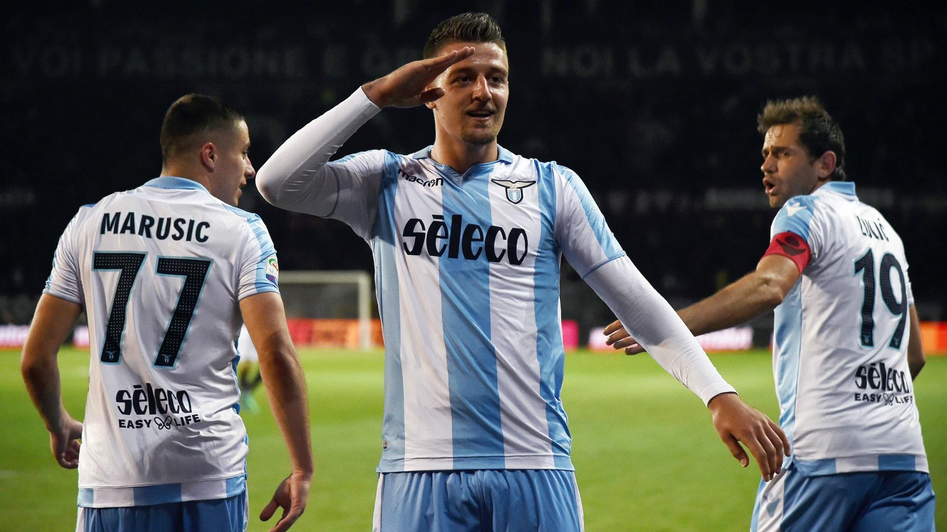 Sergej Milinkovic-Savic celebrating Torino Lazio Serie A 04282018