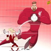 Cartoon - Alisson saves Loris Karius | Liverpool