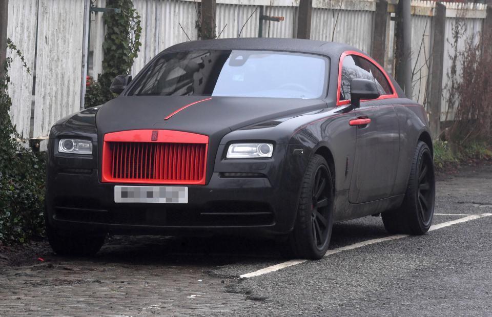 Romelu Lukaku Manchester United car