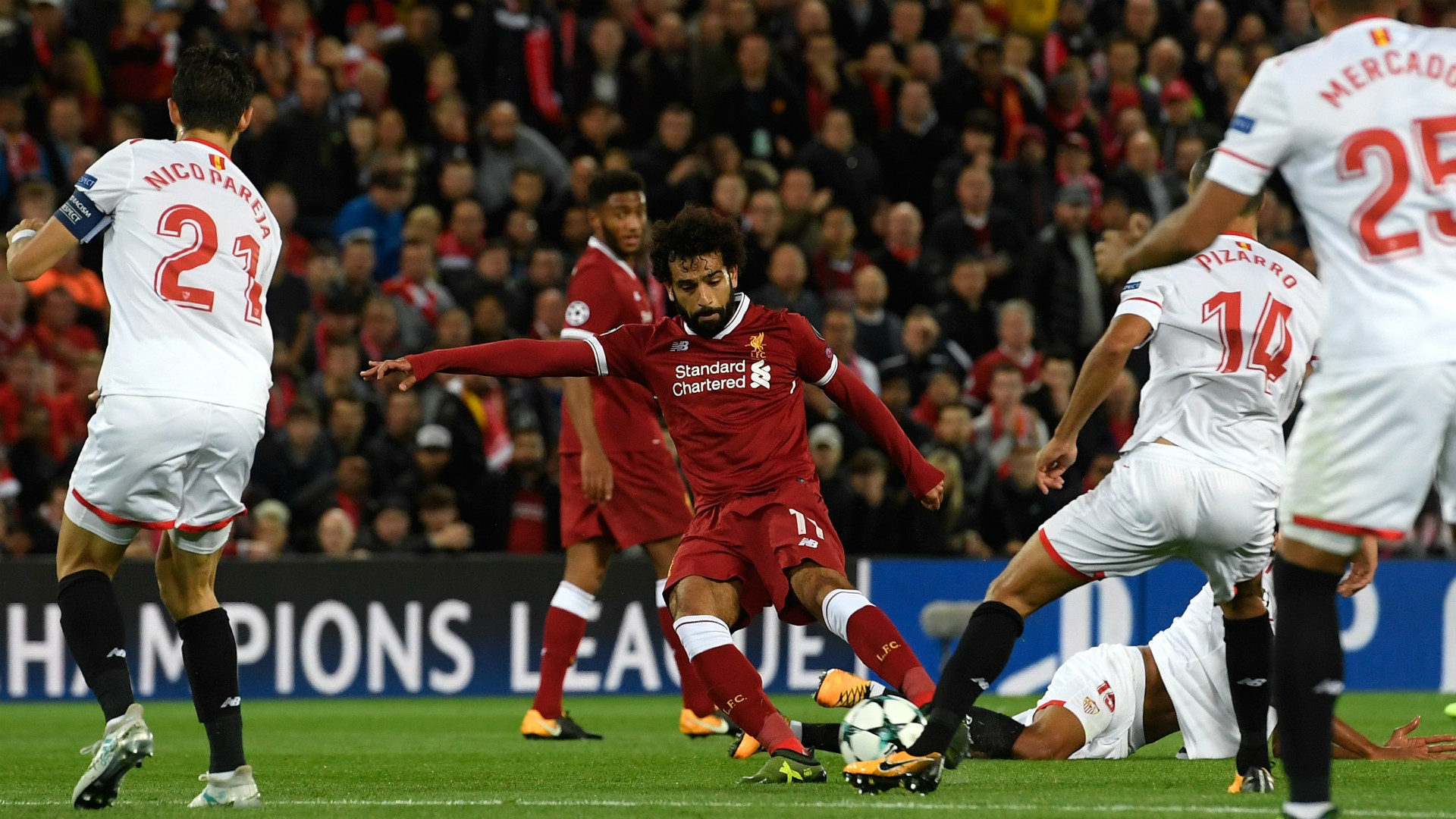 Mohamed Salah Liverpool Sevilla Champions League