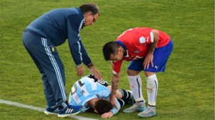 Lionel Messi Gary Medel Gerardo Martino Final Copa América 2015 Chile Argentina