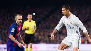 Andres Iniesta Cristiano Ronaldo Barcelona Real Madrid 03122016