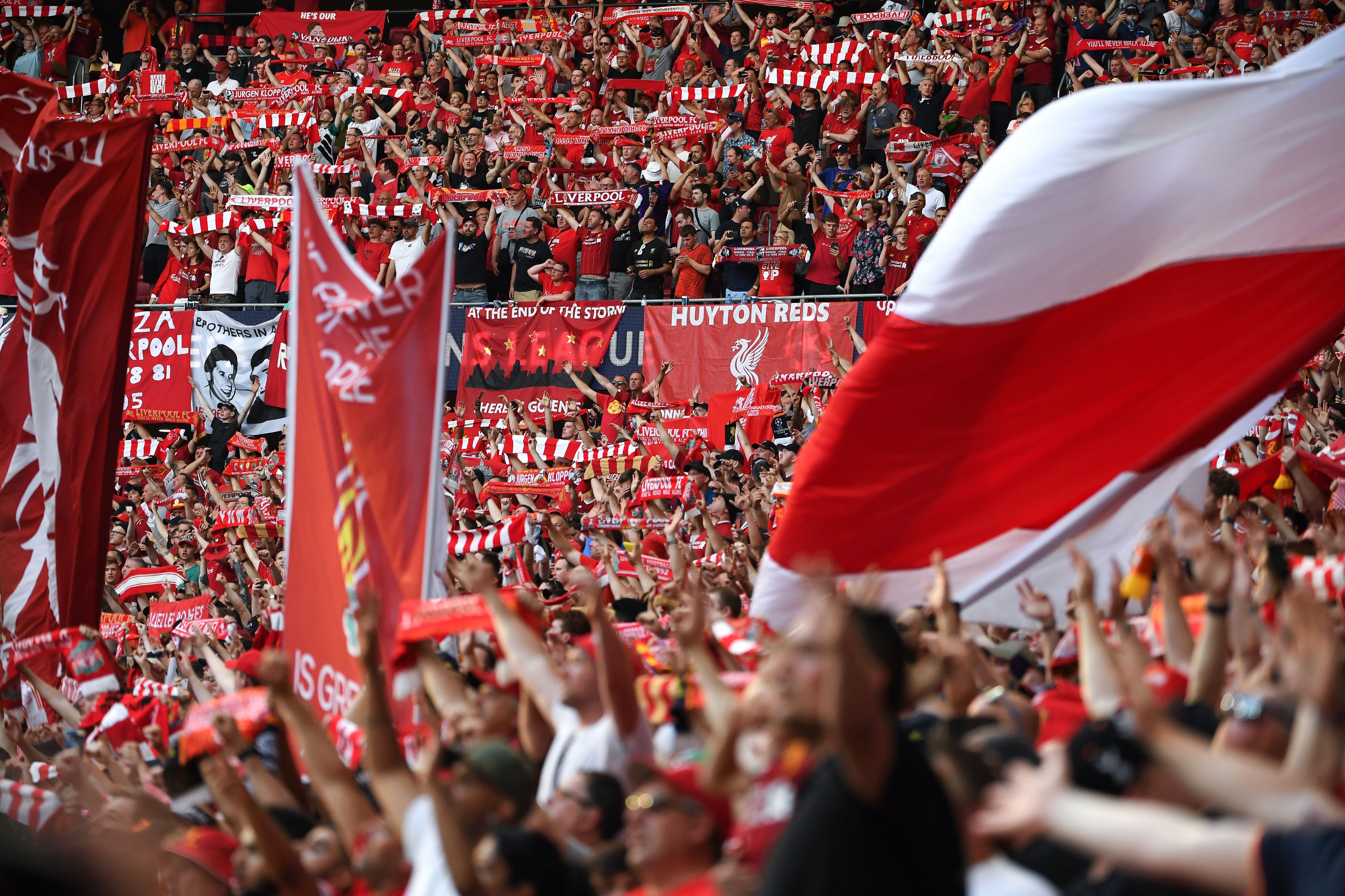 Liverpool fans - Champions League final