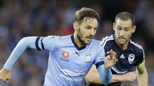 Milos Ninkovic Carl Valeri Melbourne Victory v Sydney FC A-League 26012017
