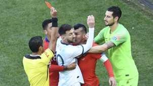 Messi Medel expulsion Argentina Chile Copa América 06072019