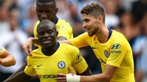 N'Golo Kante Jorginho Huddersfield Chelsea 08112018