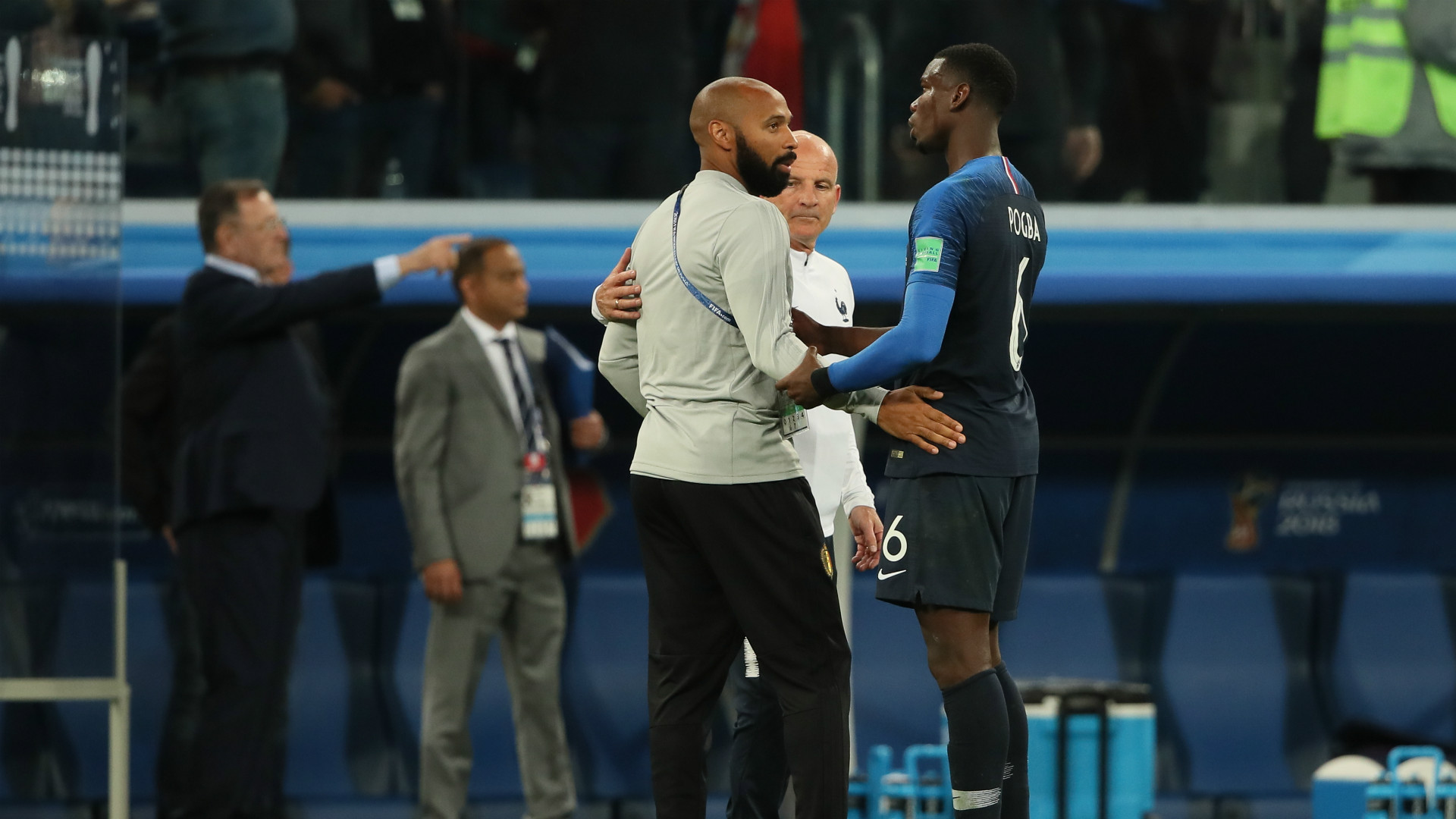France Belgium World Cup 2018 Thierry Henry Pogba