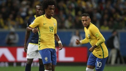 Willian Neymar Brazil Ecuador Eliminatorias 2018 31082017