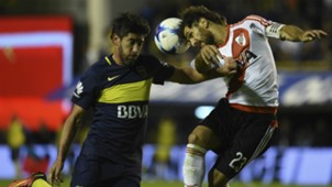 Pablo Perez Leonardo Ponzio Boca Juniors River Plate Primera Division Argentina 140502017