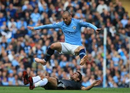 David Silva - Manchester City v Burnley