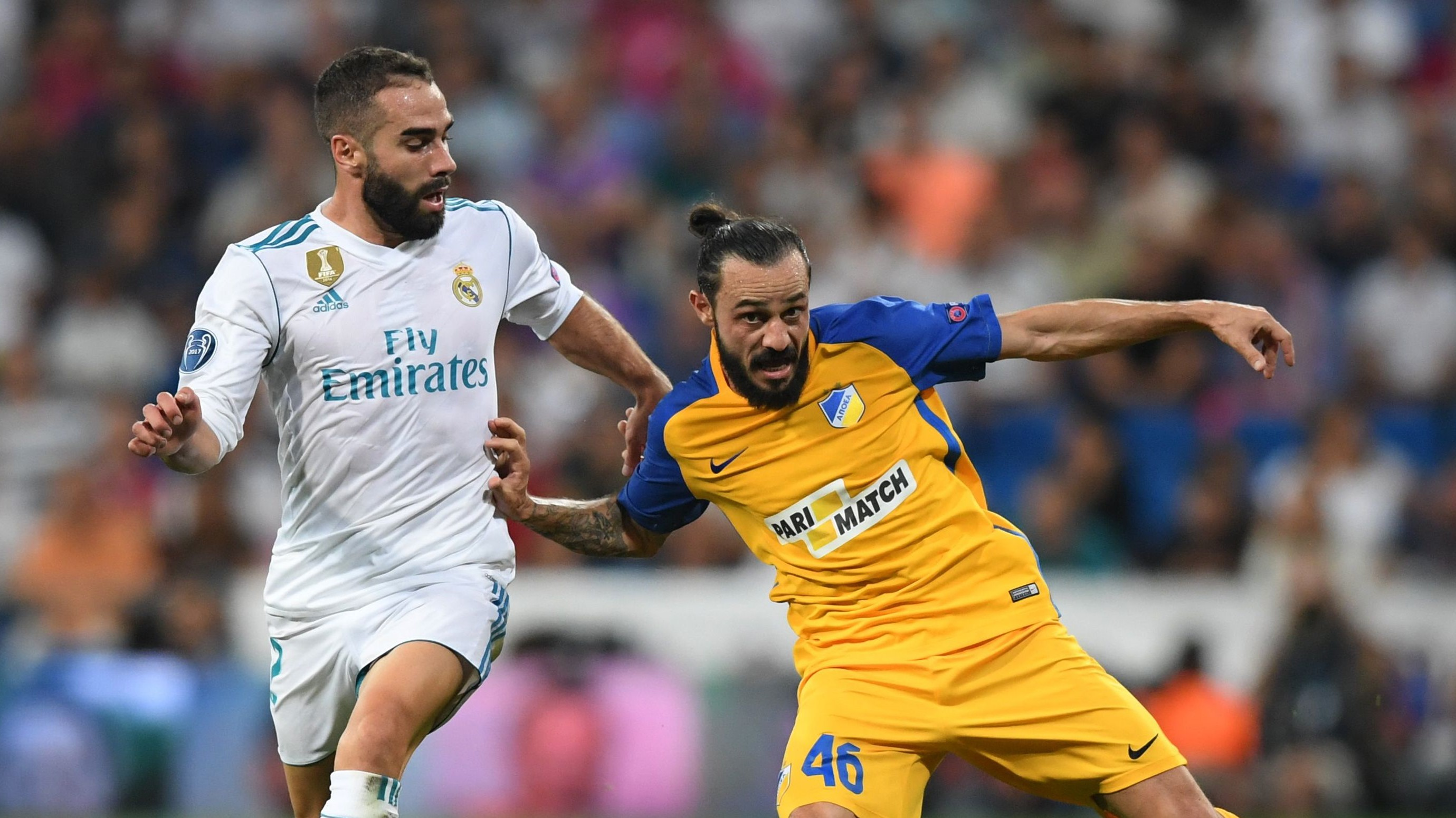 Dani Carvajal Stathis Aloneftis Real Madrid APOEL Champions League 13092017
