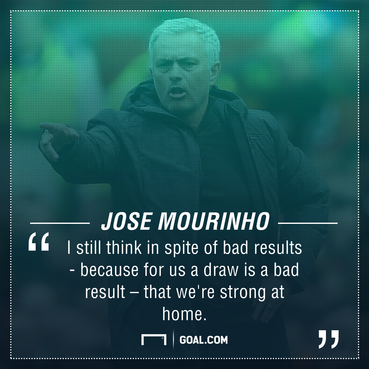 Jose Mourinho Manchester United home form