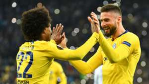 Willian Olivier Giroud Chelsea 2018-19