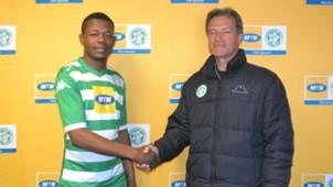 Ndumiso Mabena and Veselin Jelusic, Bloemfontein Celtic