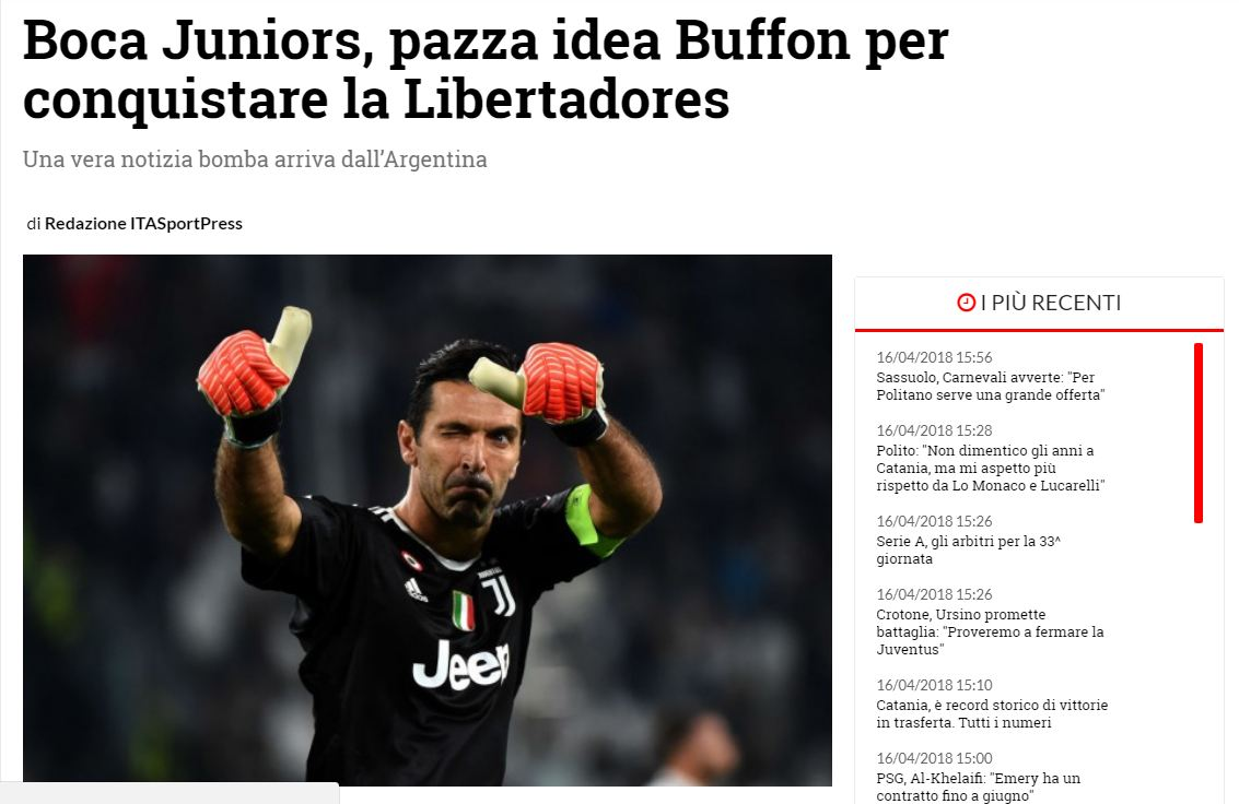 Ita Sport Press Buffon Boca